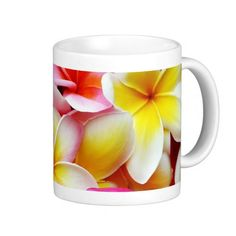 Plumeria Frangipani Hawaii Flower Hawaiian Flowers Mug