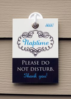 Shhh Its Naptime Sign Do Not Disturb Knock Or Ring