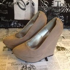 Charlotte Russe Shoes - NUDE WEDGE