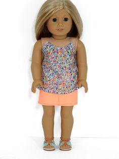 American Girl Doll Denim skirt and Halter