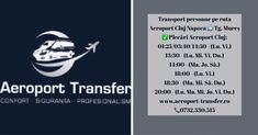 Program curse transport persoane pe ruta: Aeroport Cluj - Târgu Mureș  Plecări Aeroport Cluj: 01:25 / 03:40 / 14:50 (Lu.Vi.)  13:30 (Lu.Mi.Vi.Du.)  14:00 (Ma.Jo.Sâ.)  18:00 (Lu.Vi.)  18:30 (Ma.Mi.Sâ.Du.)  20:00 (Lu.Ma.Mi.Jo.Vi.Du.) Rezervări online bilete: http://www.aeroport-transfer.ro/rezervari-online.php 📞 0732.530.515 #transportpersoane #transportaeroportCluj #ClujNapoca #TarguMures