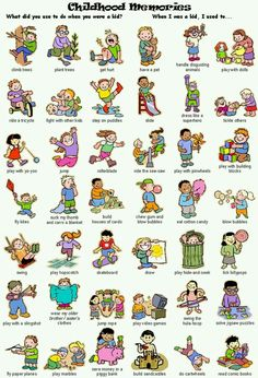 Action Verbs in English: Childhood Memories English Verbs, Kids English, English Phrases, English Study, English Grammar, Learn English Words, English Lessons, Grammar And Vocabulary, English Vocabulary