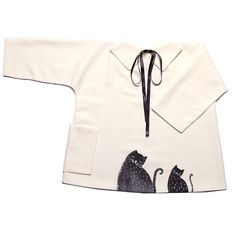 """Vestido para bebé y niña hecho y pintado a mano """"Gatitos negros"""" por Le Petit Mammouth. Disponible en www.chincharabincha.com"""