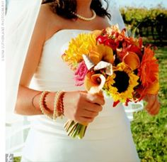 sunflower wedding bouquets - Bing Images