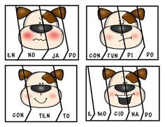 Puppy Emotions. ( Spanish Syllable Puzzles Literacy Centre) | TpT Italian Words, Spanish Words, Beginning Sounds, Little Games, Vowel Sounds, Syllable, Literacy Centers, Puzzles, Centre