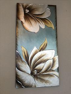 Simple Canvas Paintings, Easy Canvas Painting, Diy Canvas Art, African Art Paintings, Acrylic Painting Flowers, Leaf Wall Art, Flower Art, Art Drawings, Photos