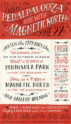 Magnetic North is hosting a Pedalpalooza Ride Friday, June 22nd!