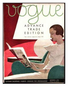 Vogue Cover Vogue Magazine cover, by A.E. Martin