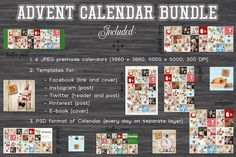 Advent Calendar Bundle by elfivetrov on @creativemarket