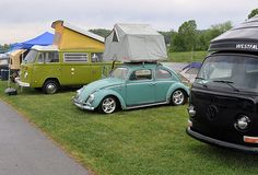 I can't decide what I like better--the tent-capped beetle or the pop-tent bus.