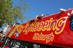 City Sightseeing open-top bus in the sunshine