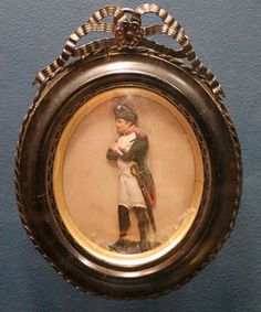 Napoleon Bas-Relief Figure. Painted Wax in a Frame. Circa Mid-to-Late 19th Century.