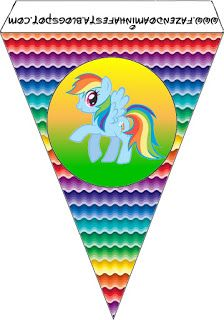 MY EDIT: pony banners . My Little Pony: {free} printables. Right click and save as (site is in spanish) Fiesta Little Pony, My Little Pony Cumpleaños, Little Poney, Festa Rainbow Dash, Rainbow Theme, Rainbow Birthday, My Little Pony Birthday Party, 6th Birthday Parties, Birthday Ideas