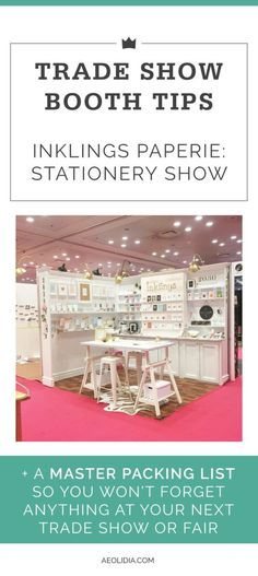 National Stationery Show tips from Inklings Paperie. Learn what to expect at the NSS, NY NOW, or other gift or trade show. Tips on booth setup and wholesale relationships. Click to read more, or save this pin to read later! aeolidia.com/...