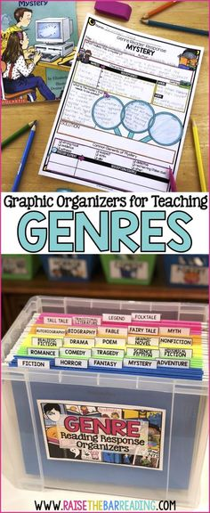 Teaching Reading Genres: From Setting up a Classroom Library to Independent Genre Activities - Raise the Bar Reading 11751649014853191 Reading Genres, Reading Skills, Reading Comprehension, Comprehension Strategies, Reading Strategies, Reading Groups, Reading Resources, Teaching Genre, Teaching Reading