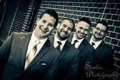 Wedding photography pose for Groom and groomsmen. By Saulie Photography.