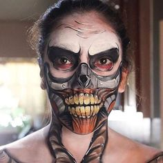 Thank you to @monliet_facepaint for tagging is in this super cool work! #faceart #halloweenmakeup #halloween #mua #facepainter #faceart #dupemag