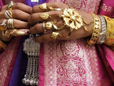 Africa | Details from a Harari bride the day before her wedding.  Harar, Ethiopia  | © Lara Kirk