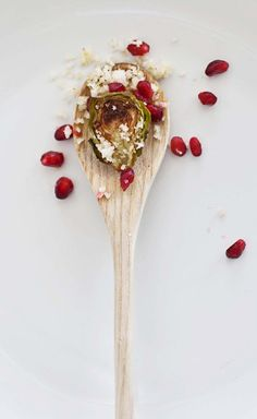 Citrus and pomegranate brussels