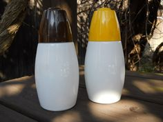 VINTAGE Set of Cream and Sugar Shakers Milk by VeiledThroughTime, $19.00