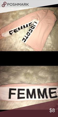 femme liberte crop. cute, light, long sleeved top. worn once. Tops Tees - Long Sleeve
