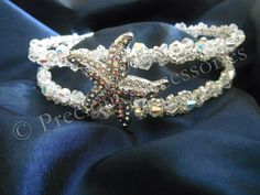 This Starfish tiara I made for a client last year for her beach wedding in Cyprus, available from www.preciousaccessories.co.uk