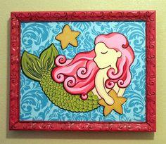 Mermaid Themed Rooms | love this mermaid, for the ocean theme