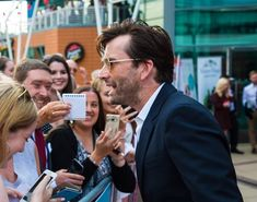 David Tennant and fans at the You, Me and Him screening Jersey Photo by Baby Lifeline