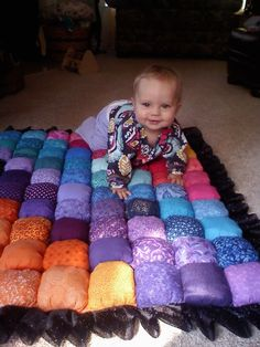 Tummy time baby bubble quilt custom made to order by GordonQuilts