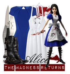 """[Alice the Madness Returns] Alice"" by kristent981 ❤ liked on Polyvore featuring Forever 21, Coast, Jacquemus, Shun, Almost Famous, Chantecaille and Fiorentini + Baker"