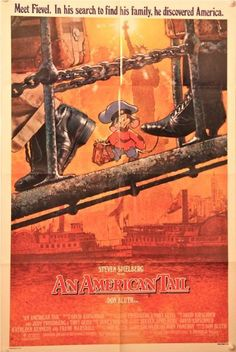 An American Tail Original One Sheet (1986) (Artwork by Drew Struzan) (Don Bluth/Steven Speilberg)