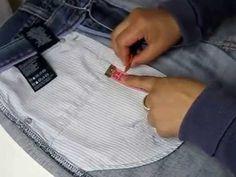 DIY ARREGLAR EL BOLSILLO A UN PANTALÓN - YouTube Couture, Jeans, Plastic Cutting Board, Diy, Tutorials, Shorts, Vestidos, Sewing Accessories, Sewing Techniques