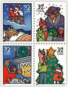 1996 USA Christmas Stamps