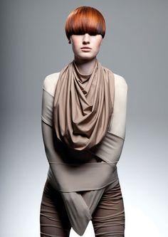 Silent touch präsentiert von www.my-hair-and-me.de #women #hair #haare #red #rot #scarf #schal #kurzhaarfrisur #short #hair