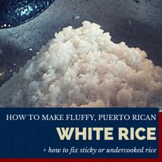 How to make yummy, fluffy, Puerto Rican white rice | Foodie Zoolee