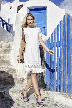 Die schönsten #Damen #Citylooks für den #Sommer2016. #Sommermode #Santorini #Womenswear #Reischmann #dress #kleid #summer