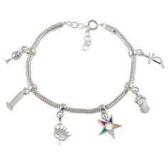 Order of the Eastern Star Heroine Emblem Charm Bracelet | The Black Art Depot