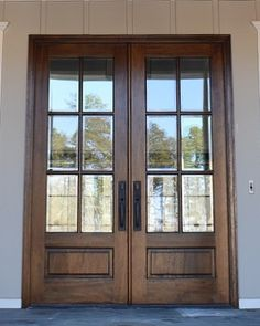 6-Lite True Divided Lite Double Entry Door (6/8 and 8/0 Sizes)