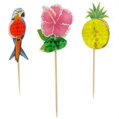 Luau Honeycomb Picks Designs, 4 of each) Hawaiian Luau Party, Party Themes, Themed Parties, Honeycomb, Tropical, Outdoor Decor, Ebay, Design, Home Decor
