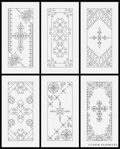 Blackwork Crosses 4- #186 (c) 2012 Angie Kowalsky/Linen Flowers Designs *Chart Download For Personal License Only- Not For Resale Or Sharing. http://linenflowers.com/186lf.htm