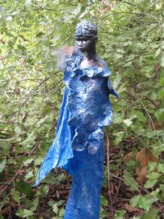 Most of the sculptures shown are completed using a textile hardener, Powertex. Refer to the Powertex page for product information. Faeries, Garden Sculpture, Attitude, Sculptures, Textiles, Wall Art, Crafts, Inspiration, Blue