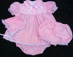 Adult Sissy Baby Dress Set Handmade Custom Size by SomeDayinThyme