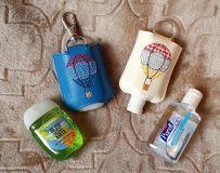 Ith Hot Air Balloon Hand Sanitizer Holder Snap Tab 5x7 Hoop