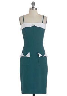 Again...WANT!  Dance Teal Dawn Dress, #ModCloth