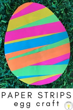 Easy Egg Craft using materials you already have in your classroom or at home!