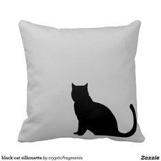 black cat silhouette pillows #zazzle sale