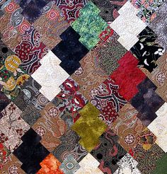 close up, Japanese Jig Saw, quilted by Holly Casey