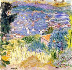 Landscape of Le Cannet / Pierre Bonnard - circa 1939