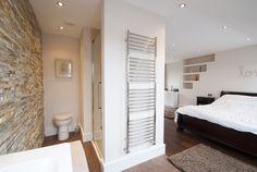 loft conversion bedroom and ensuite north london Loft Conversion Bedroom, Home, Small Spaces, Home Bedroom, House Styles, Loft Spaces, House, Loft Bathroom, Loft Ensuite