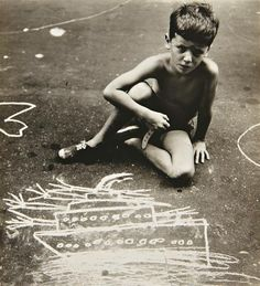 HELEN LEVITT  Graffiti Artist, N.Y.C., circa 1940